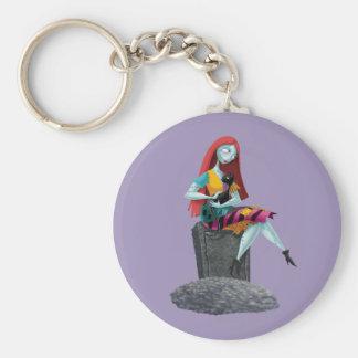 Sally 2 basic round button keychain