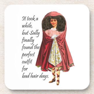Sally and Her Bad Hair Cork Coasters