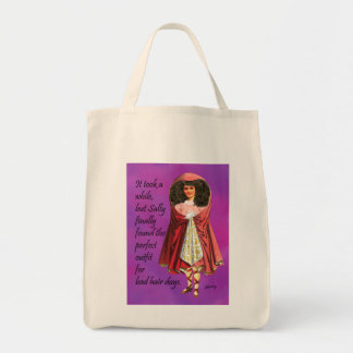 Sally and Her Bad Hair Digital Collage Tote Bag