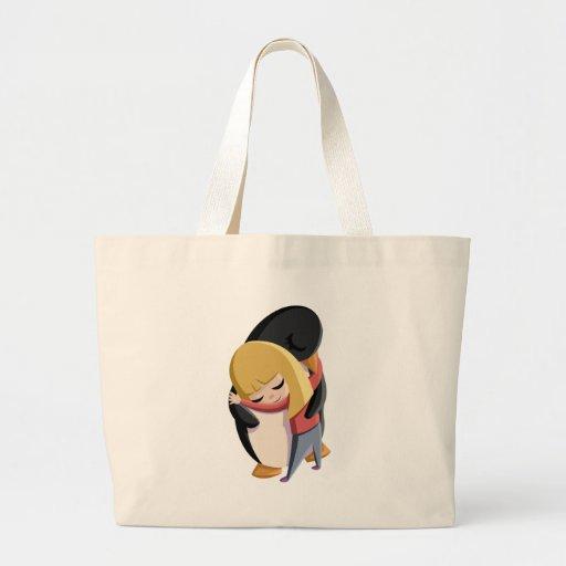Sally and Sherbert the Penguin Jumbo Tote Bag