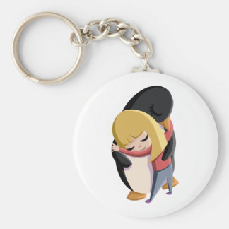 Sally and Sherbert the Penguin Keychain