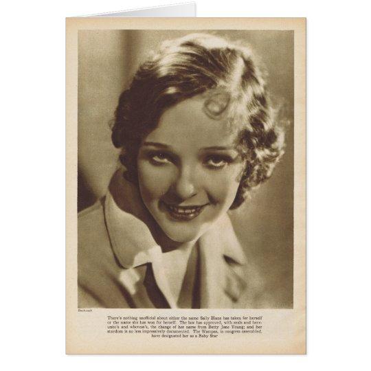 Sally Blane 1929 vintage portrait Card