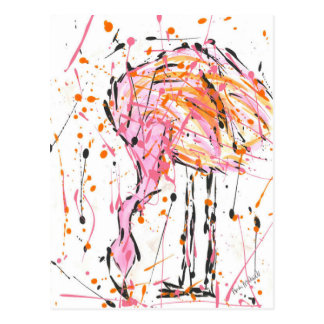 Sally Flamingo Postcard