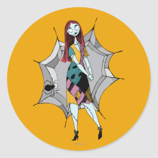 Sally in Spider Web Classic Round Sticker