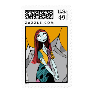 Sally in Spider Web Postage Stamp