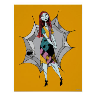 Sally in Spider Web Poster