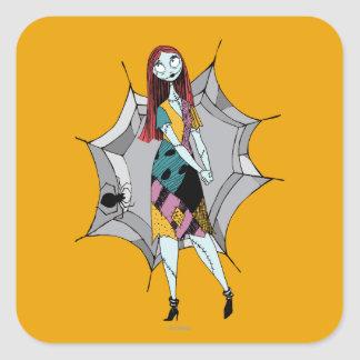 Sally in Spider Web Square Sticker