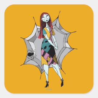 Sally in Spider Web Square Sticker