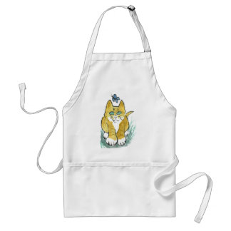 Sally, Marmalade Kitten sees a Butterfly Adult Apron