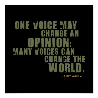 Sally McLean Quote Poster