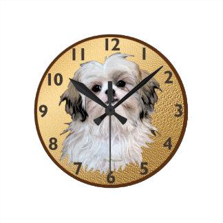 Sally Shih Tzu Round Clock