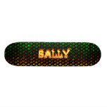 Sally skateboard fire and flames design.