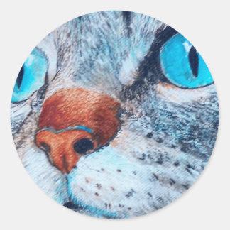 Sally the Blue Eyed Cat Sticker