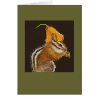 Sally the chipmunk card