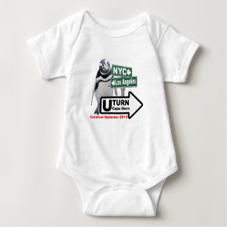 Sally The Penguin U-Turn for Grandchildren Baby Bodysuit