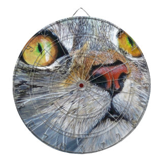 Sally the Tabby Cat Dartboard With Darts