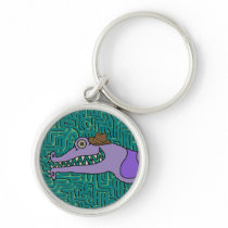 Sally Witch a Cowboy Hat on Doodle Squiggles Keychain