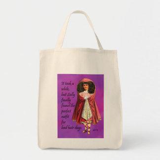 Sally y la su mala bolsa de asas del collage de Di