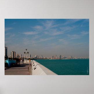 Salmiya, Kuwait city scape view Poster