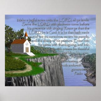 Salmo 100 (versión amplia) póster