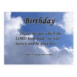 Salmo 118-24 del cumpleaños tarjetas postales