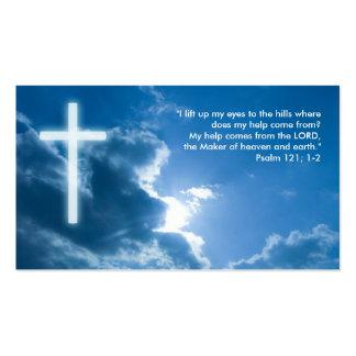 Salmo 121; 1-2 - Tarjeta de visita cristiana