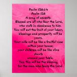 Salmo 128: 1-4 impresiones