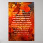 Salmo 145, hojas de arce, cartel otoñal del grunge posters