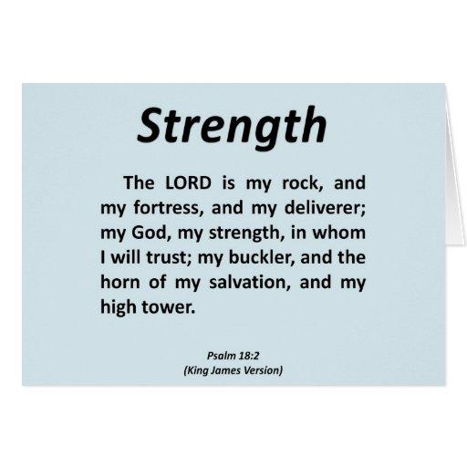 Salmo 18-2 de la fuerza tarjeta de felicitación