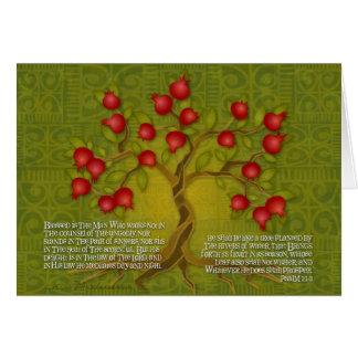 Salmo 1 tarjeta de felicitación