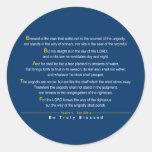 Salmo 1 - Una cita del salmo 1 de la biblia Pegatinas Redondas