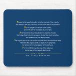 Salmo 1 - Una cita del salmo 1 de la biblia Tapetes De Ratones