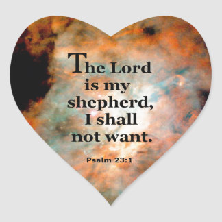 Salmo 23,1 pegatina en forma de corazón