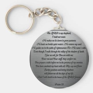 Salmo 23 - Acero Llavero Redondo Tipo Pin