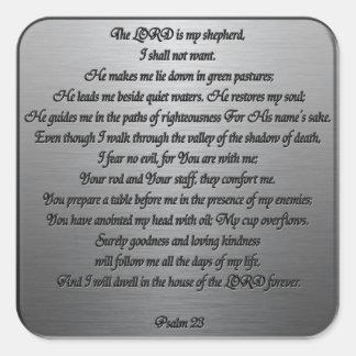 Salmo 23 - Acero Pegatina Cuadrada