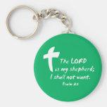 Salmo 23: El señor es mi pastor Llaveros Personalizados