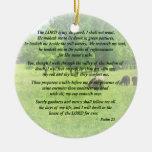 Salmo 23 el señor Is My Shepherd Adorno Redondo De Cerámica