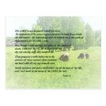 Salmo 23 el señor Is My Shepherd Postales