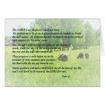 Salmo 23 el señor Is My Shepherd Tarjeton