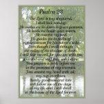 Salmo 23 en fondo del parque de Oxford Posters