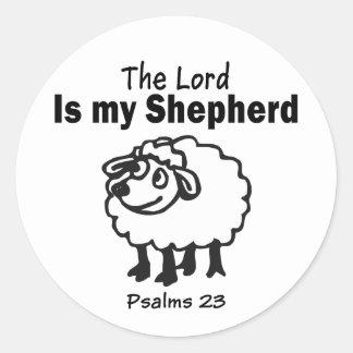 Salmo 23 pegatina redonda