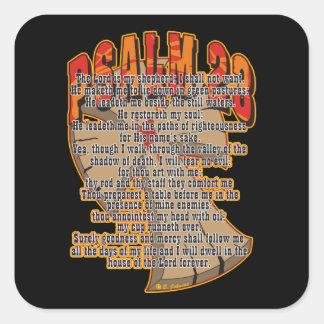 Salmo 23 pegatina cuadrada
