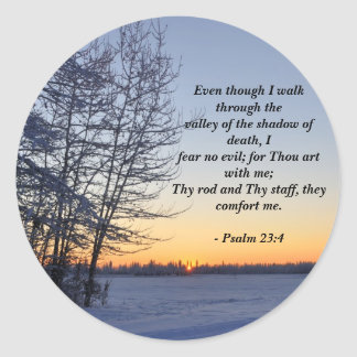 Salmo 23 - Poemas religiosos inspirados Pegatina Redonda