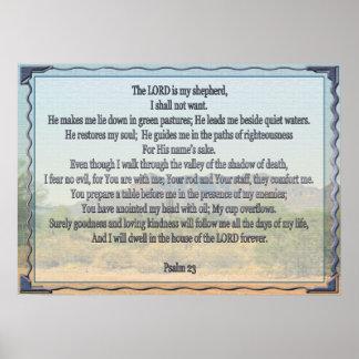 Salmo 23 póster
