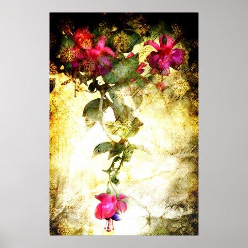 Salmo 23 (poster floral del arte) póster