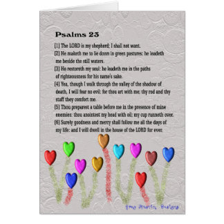 Salmo 23 tarjeta de felicitación