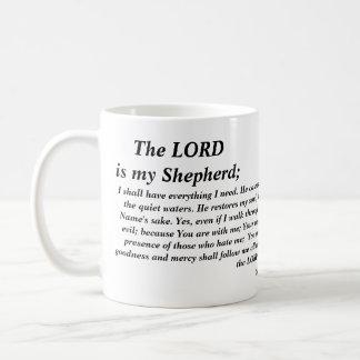 Salmo 23 - taza moderna de la versión