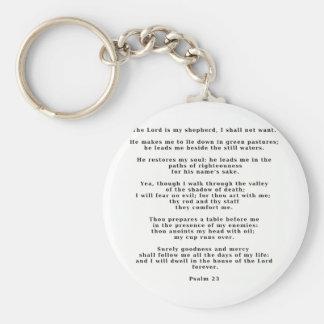 Salmo 23white llaveros personalizados