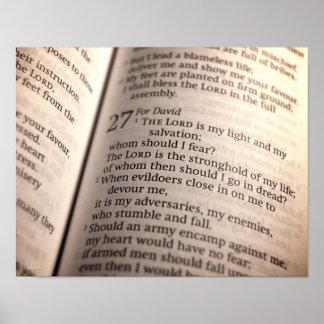 Salmo 27 [impresión] poster