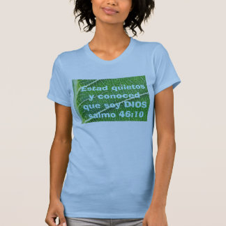 salmo 46:10 womens shirt